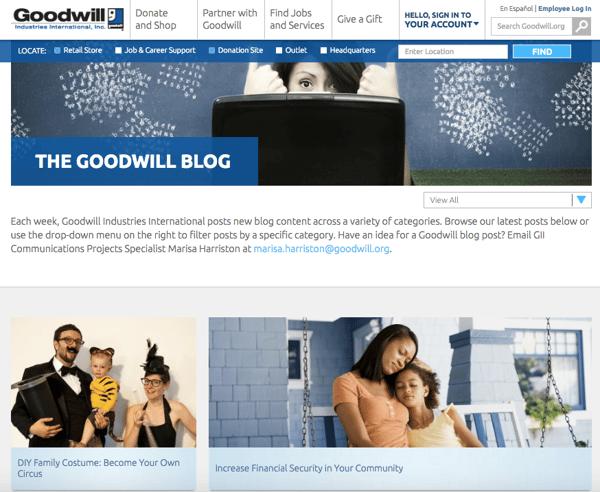 beautiful blog design goodwill