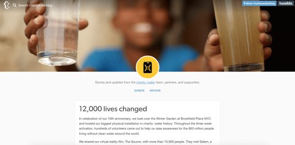 beautiful blog design charity:water