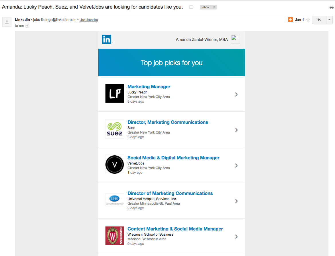 LinkedIn  13 Email Examples That Totally Nailed Personalization Screen Shot 2016 10 18 at 9