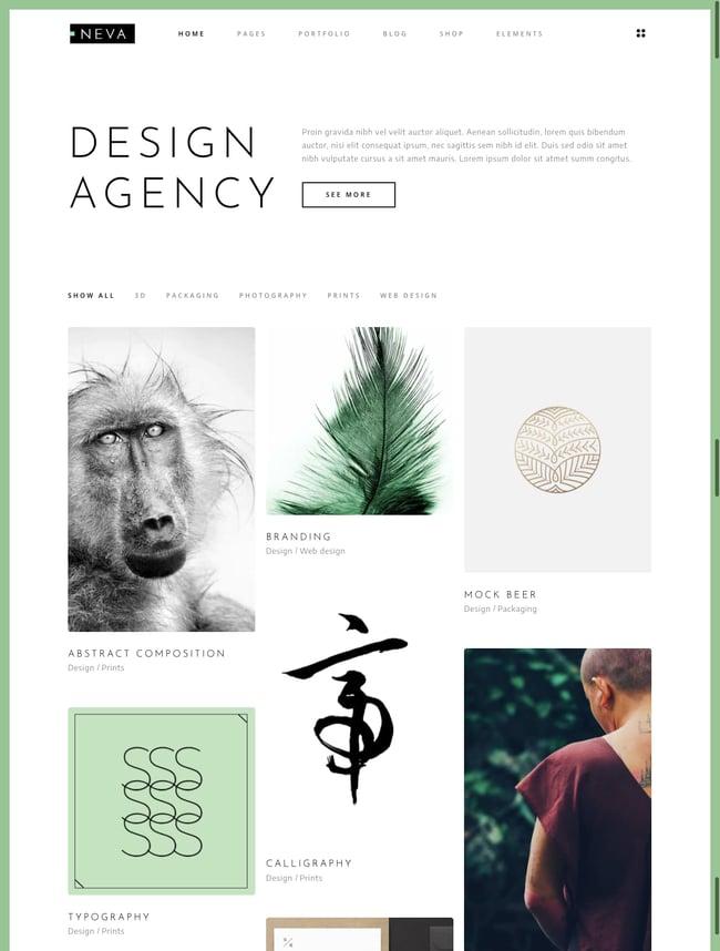best pinterest-style wordpress theme: Neva