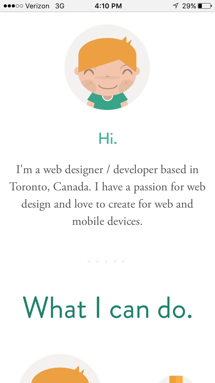 Sean_Halpin_Mobile.png  18 Personal Websites to Inspire Your Own Sean Halpin Mobile