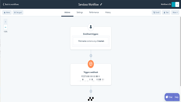 Screenshot of Sendoso integration in HubSpot
