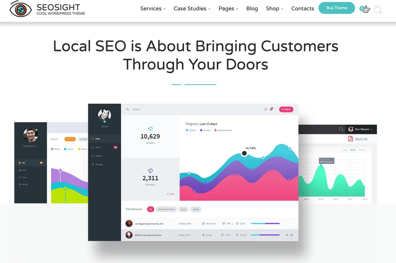 Seosight best wordpress themes seo agencies