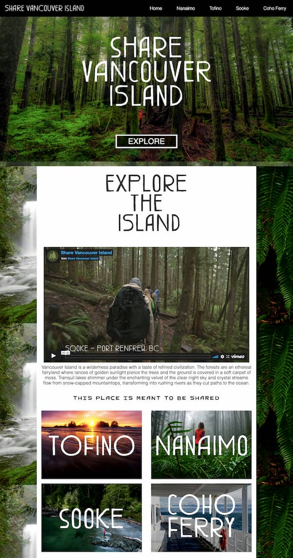 Share Vancouver Island website built with Divi theme