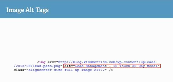 An image alt text for Lead Management image in Kissmetrics blog