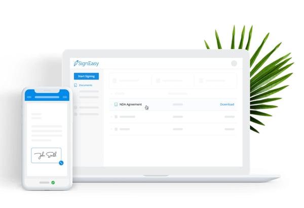 SignEasy eSignature platform