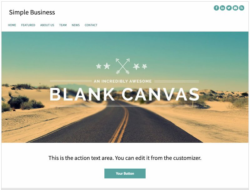 Simple Business minimalist theme demo