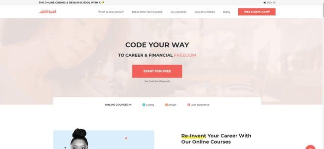 best online coding bootcamp: Skillcrush