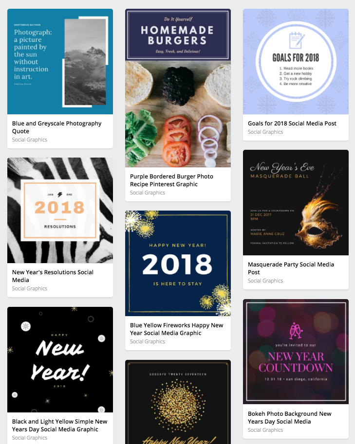 Social Media Template  10 Free Templates Every Small Business Needs in 2018 Social Graphic Templates
