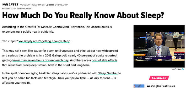 Sponsored content from Sleep Number discussing Sleep