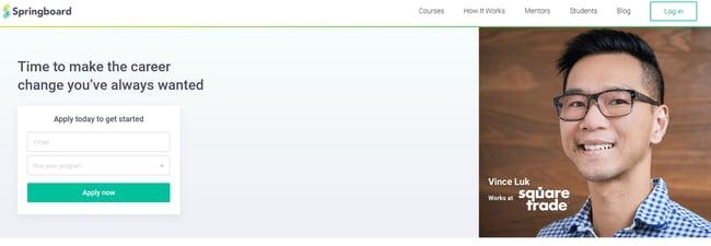 best online coding bootcamp: Springboard