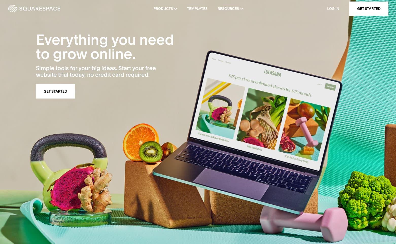 Squarespace web platform