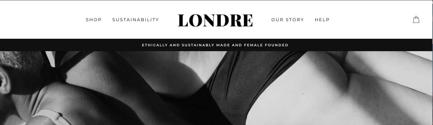 Sticky menu on Londre website