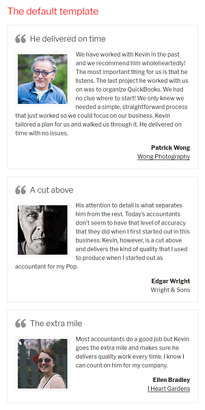 Strong Testimonials plugin to create travel business site using WordPress