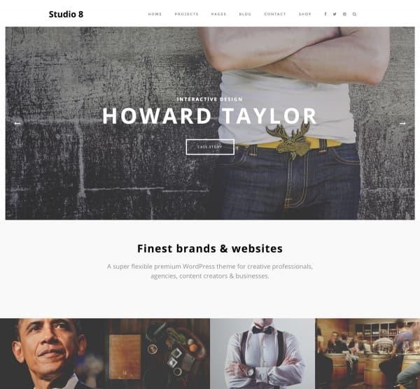 creative wordpress themes: Studio 8