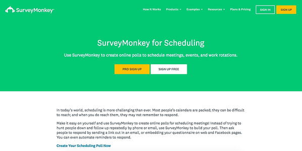 Survey Monkey Best Scheduling Polls and Surveys