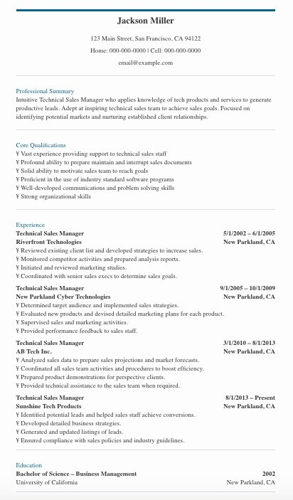 Use These Sales Manager Resume Tips Templates To Get The Job