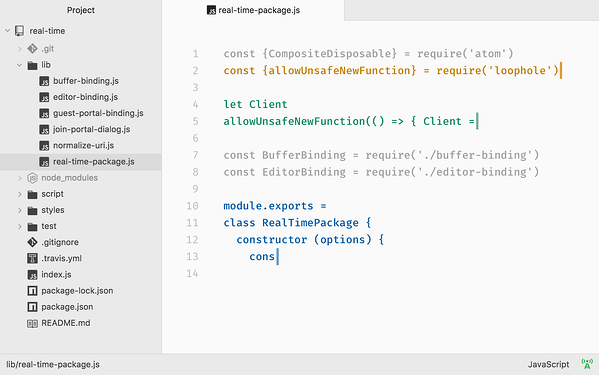 Downloading Teletype package in Atom, one of the best CSS code editors