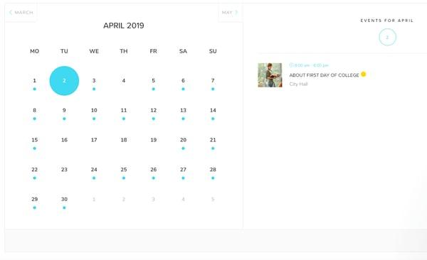 modern events calendar plugin