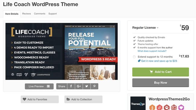 life coach wordpress theme for podcasts download page