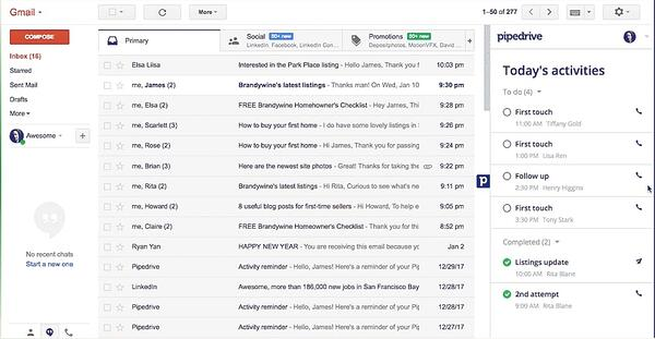 Pipedrive CRM Gmail
