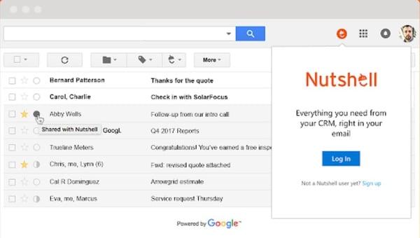 Nutshell CRM Gmail Integration