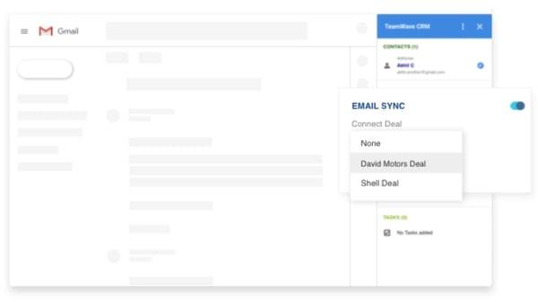 Teamwave CRM Gmail