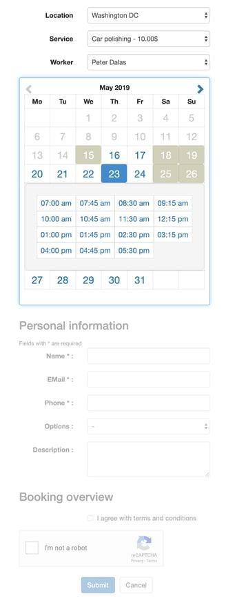 Easy Appointments Wordpress Plugin