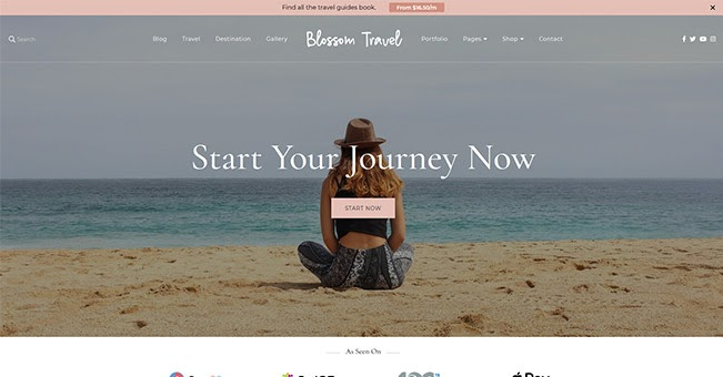 Blossom Travel free WordPress blogging theme