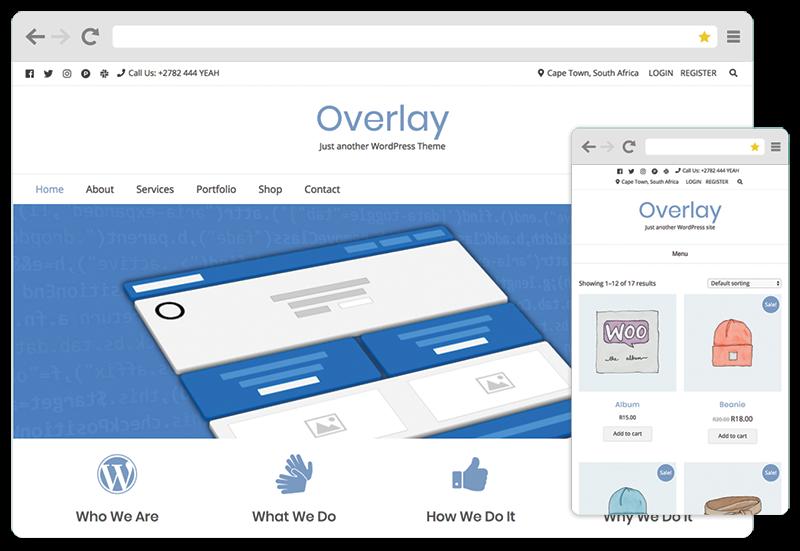 Overlay free WordPress blogging theme