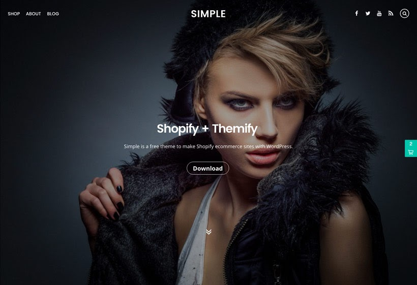 Simple free WordPress blogging theme