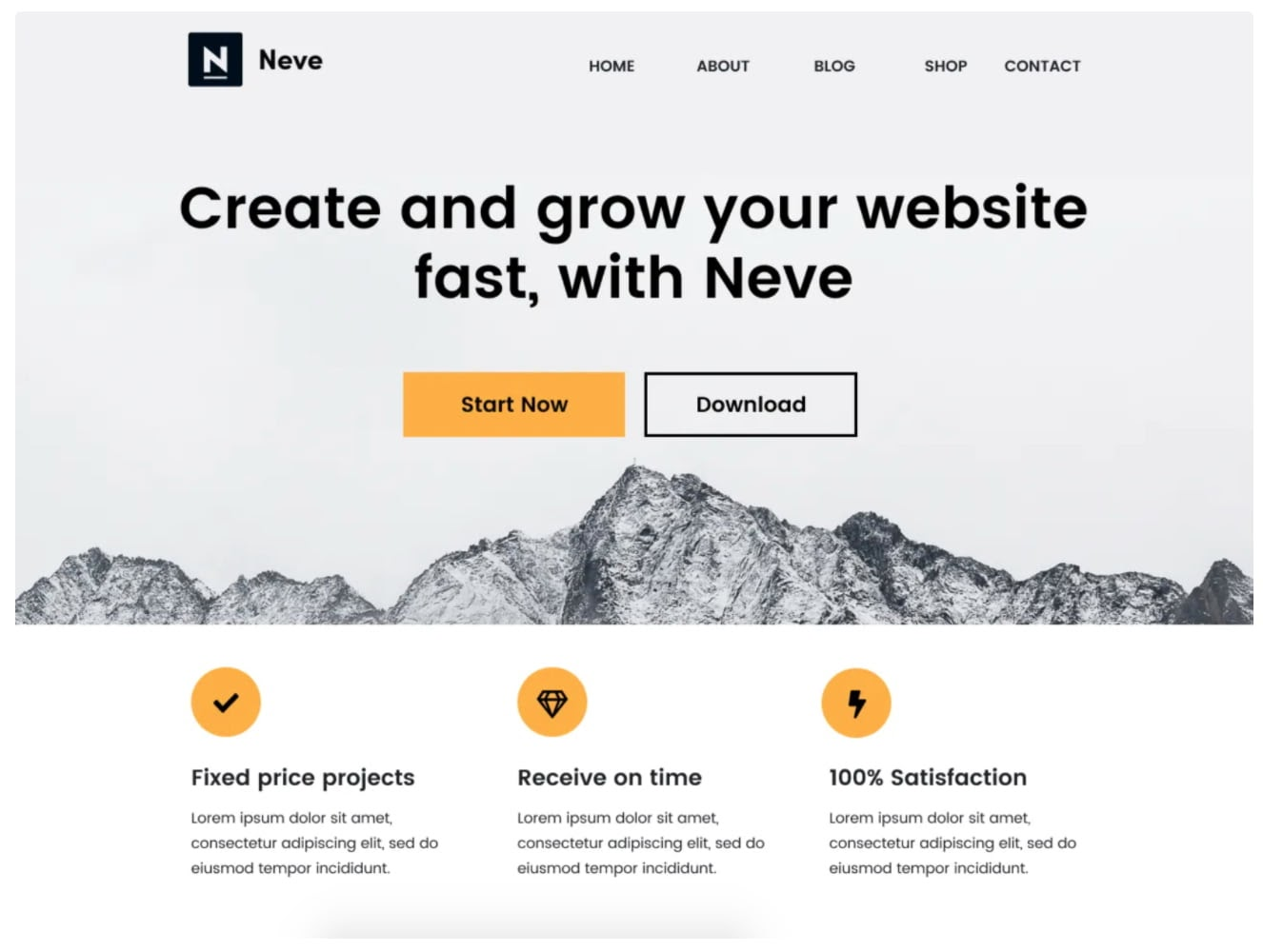 Neve free WordPress blogging theme