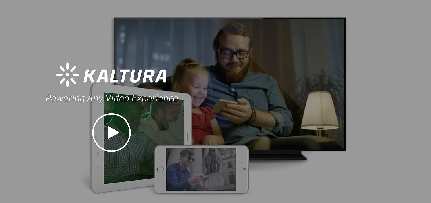 the landing page for the video content management system Kaltura