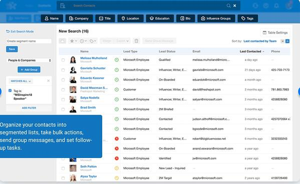 Nimble contact management software