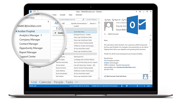 Prophet CRM Microsoft Outlook Integration