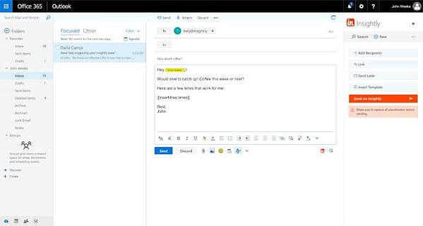 Insightly CRM Microsoft Outlook