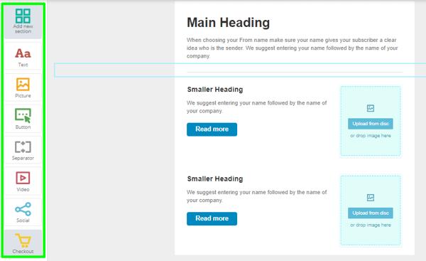SendPulse free email marketing software example