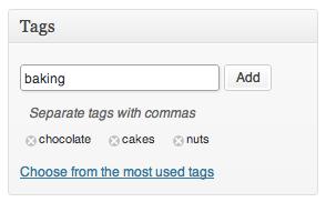 Built-in tags module in wordpress cms