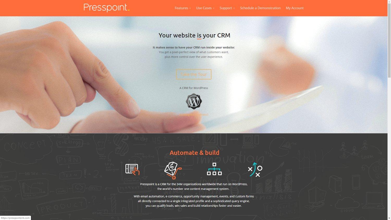 Presspoint wordpress crm plugin
