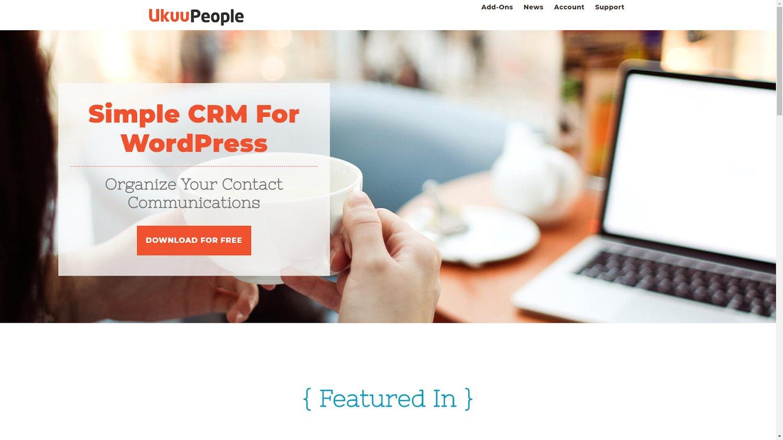 UkuuPeople wordpress crm plugin