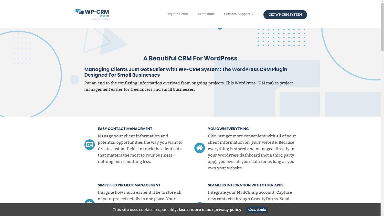 WP CRM system wordpress crm plugin