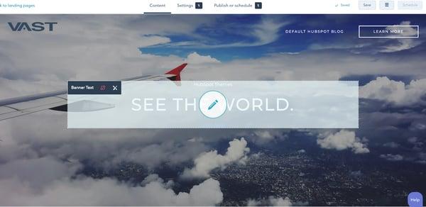 HubSpot landing page modules.