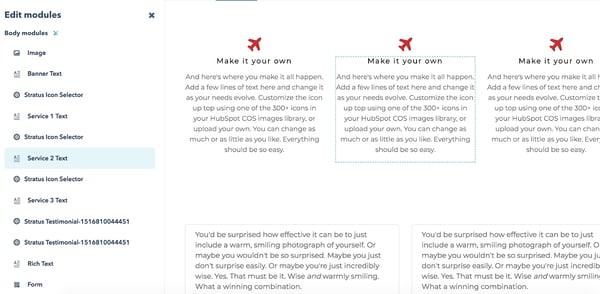HubSpot登陆页面文本块。