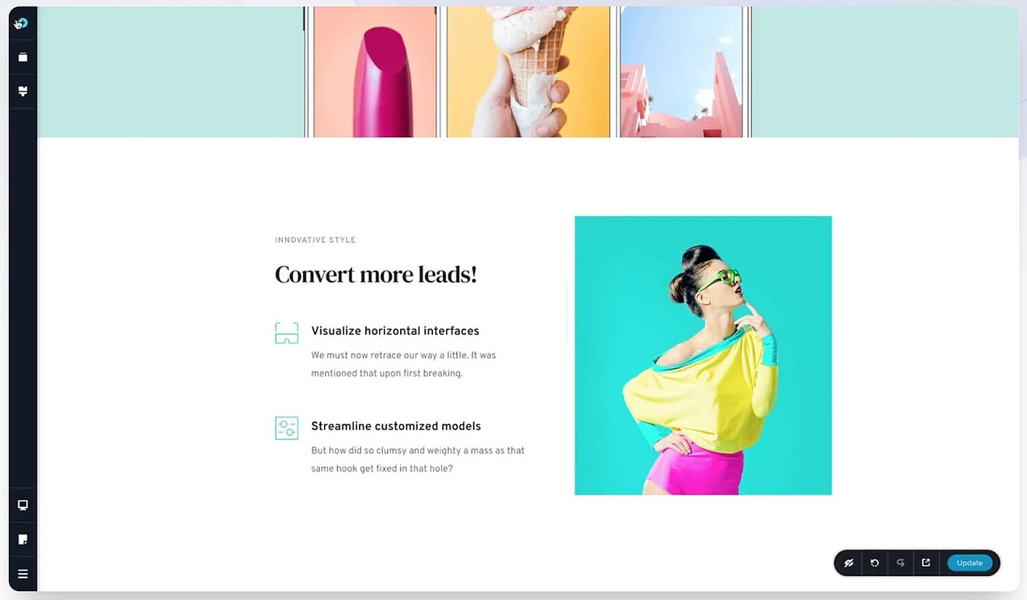 homepage for the WordPress page builder Brizy