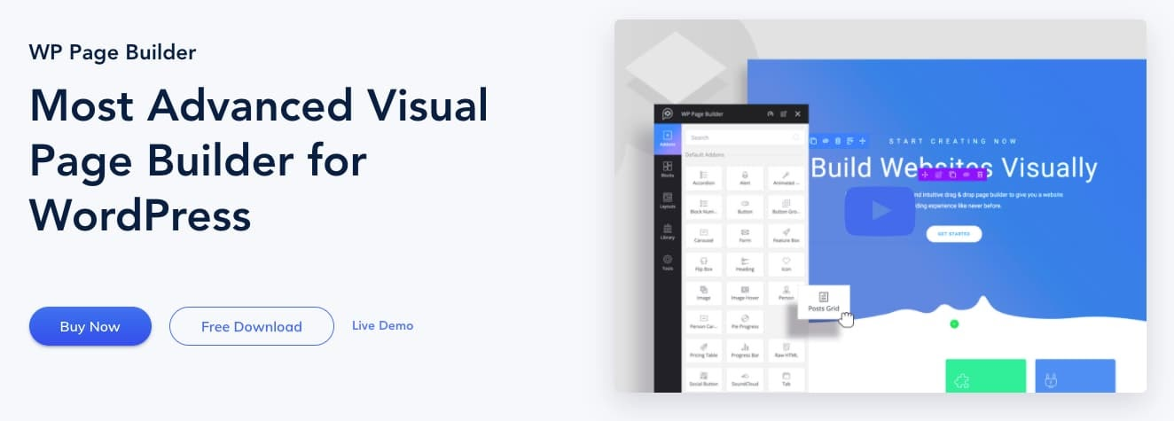 homepage for the WordPress page builder WP Page Builder by Themeum
