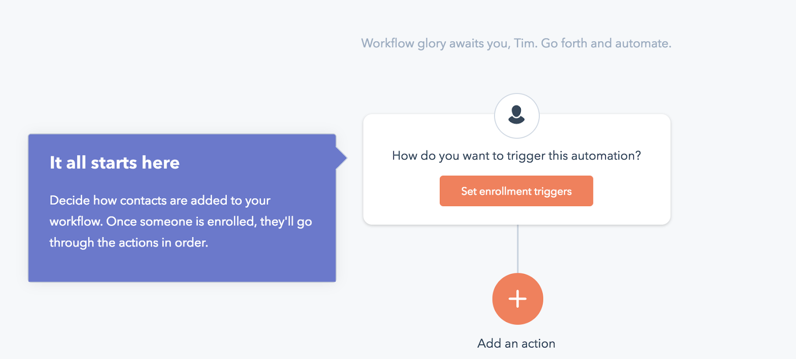 customer onboarding process feature callouts hubspot