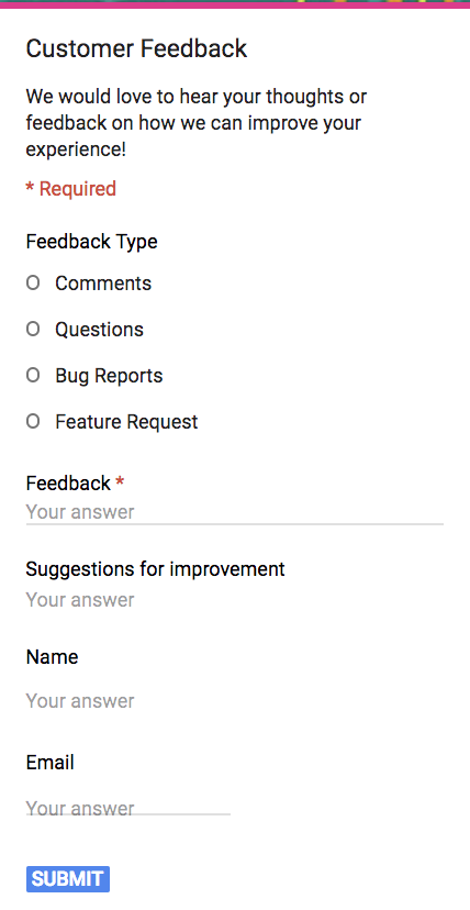 graphic relating to Free Printable Open House Feedback Form named The Supreme Expert towards Google Kinds