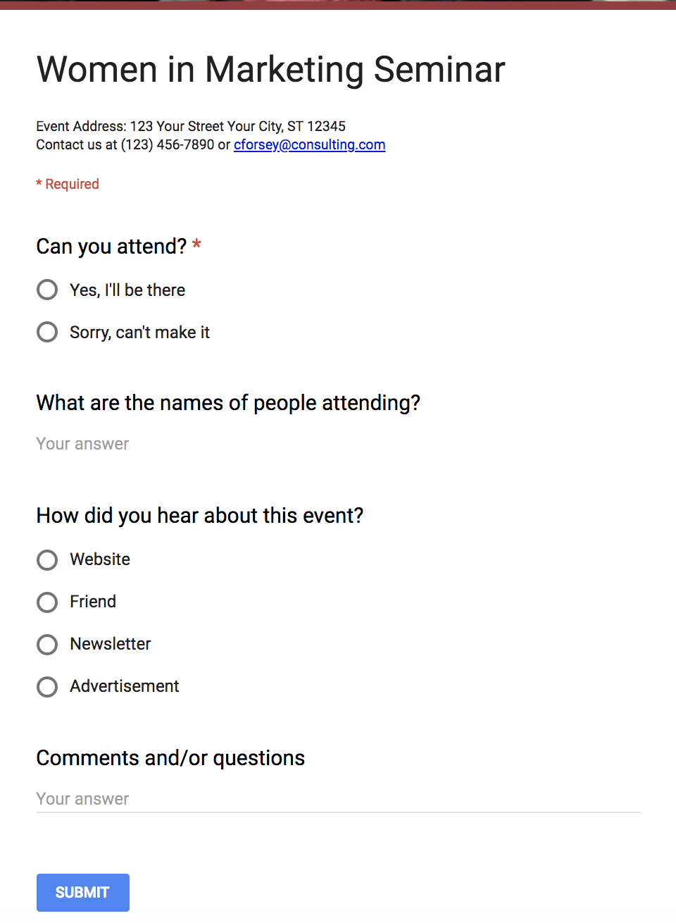 photo relating to Free Printable Open House Feedback Form named The Best Advisor toward Google Varieties