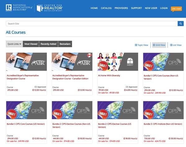 National Association of Realtors Courses