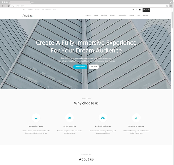 antreas business wordpress theme